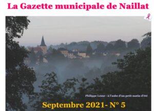 Gazette de Septembre 2021