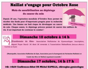 Naillat s'engage pour Octobre Rose